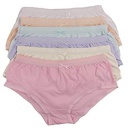 Cottonique Mujer 6 Pares DE Completo Algodón Calzoncillos en Colores a Elegir 36-54' Tallas Grandes - Variados Pastel, XXXXXOS Hip Size 60-62' (151/157cms)