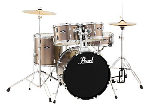 Pearl RS525SCC707 Roadshow 5-Piece Drum Set, Bronze Metallic