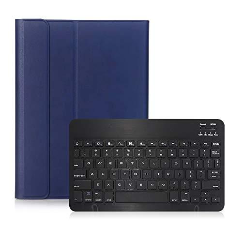 Estojo do teclado, Walory Capa de teclado BT3.0 Capa de teclado sem fio Capa protetora para iPad Capa de substituição removível do teclado para iPad 10.2 (2019)