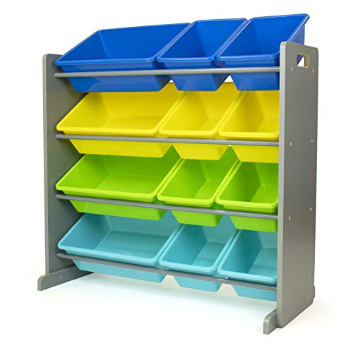 Humble Crew Toy Storage Organizer, Grey/Blue/Green/Yellow