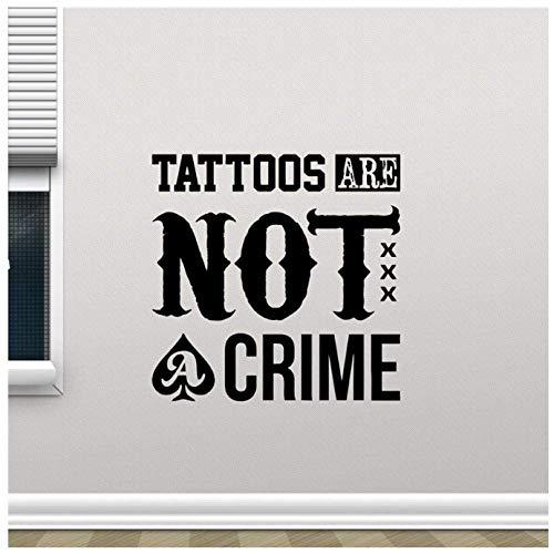 El Tatuaje No Es Un Crimen Tatuajes De Pared Tinta Salón Máquina Estudio Cartel Pared Vinilo Pegatina Niños Adolescente Habitación Arte De La Pared Decoración Mural 58X58Cm