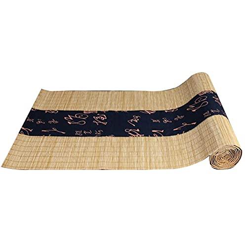 Corredor De Mesa De Bambú De Estilo Japonés, Aislamiento De Calor Lavable Decoración De Tablero De Mesa, Tienda De Té Mesa De Comedor Mesa De Mesa De Mesa, Limpie Limpia(Size:30×180cm,Color:Natural)