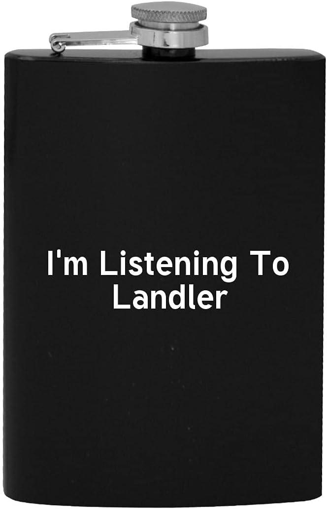 I'm Los Angeles Mall Listening San Francisco Mall To Landler - Hip Flask Drinking 8oz Alcohol