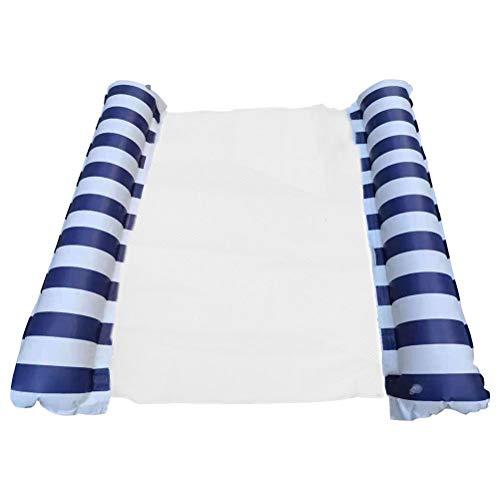XOYZUU Cama flotante inflable, tumbona de piscina, hamaca flotante, hamaca de agua, cama de aire, colchoneta de playa, primavera, flotador de verano, sofá de agua, hamaca de agua