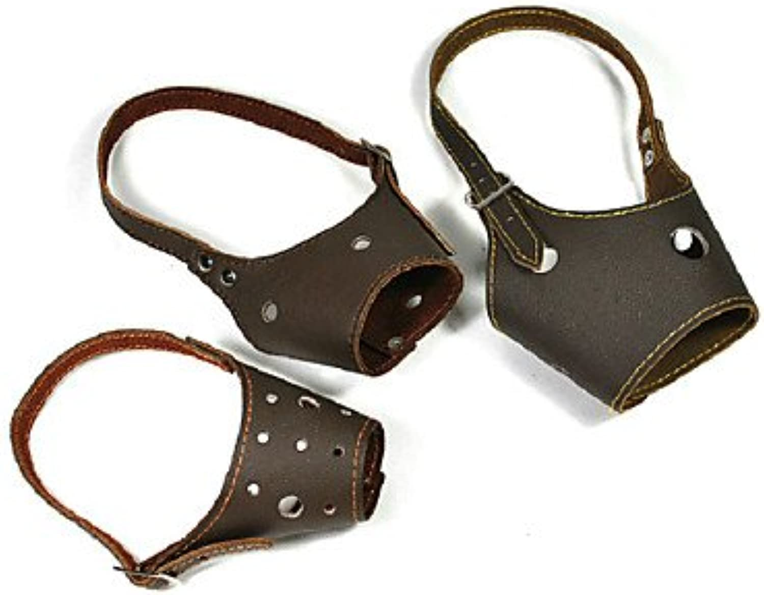 Quick shopping Elvis Presley Adjustable PU Leather Muzzle for Pets Dogs (2 ,Random color)