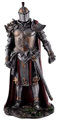 Joh. Vogler GmbH Dunkler Teufelsritter in Rüstung 18 cm Figur Ritter Dark Knight Deko Skulptur