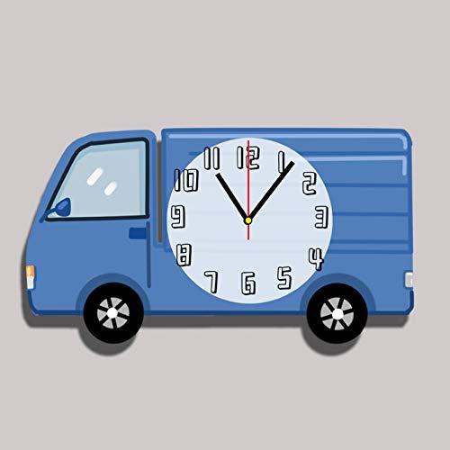 RUOXI Nettes Babyzimmer KINDERZIMMER Auto Cartoon Wanduhr Super ruhiger Kindergarten Kinderzimmer stumme Uhr