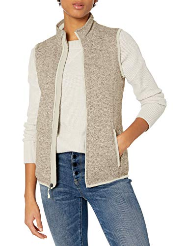 Charles River Apparel Women's Pacific Sweater Fleece Vest, Oatmeal Heather, XXL