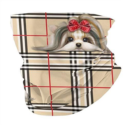 Xinflag@10 Yorkie - Pañuelo de cabeza a cuadros, a prueba de polvo, multifuncional, para hombres y mujeres