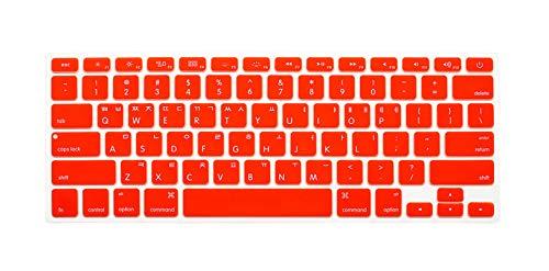 Cubierta de teclado coreano Para Mac Book Air pro13 15' A1466 A1278 A1502 Retina Teclado Cubierta de teclado de color naranja