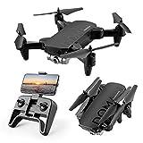 XXY-shop Drone Pliant avec Camera,HD 720P/4K Et Télécommande Rc Quadcopter WiFi 2.4GHz Flux Optique Positionnement sans Tête Maintien D'Altitude Adaptée Aux Débutants