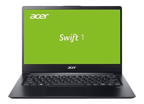 Acer Swift 1 (SF114-32-P2ED) 35,6 cm (14 Zoll Full-HD IPS matt) Ultrathin Laptop (Intel Pentium N5000, 4 GB RAM, 256 GB PCIe SSD, Intel UHD, Windows 10 Home) schwarz