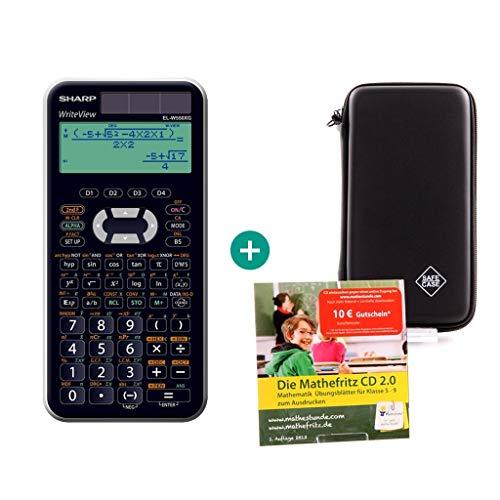 Sharp EL-W550XG + SafeCase SafeCase Schutztasche + Mathefritz Lern-CD (auf Deutsch)