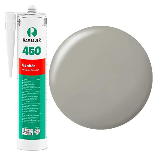 Ramsauer 450 1K Silikon Dichtstoff 310ml Kartusche (Zementgrau)