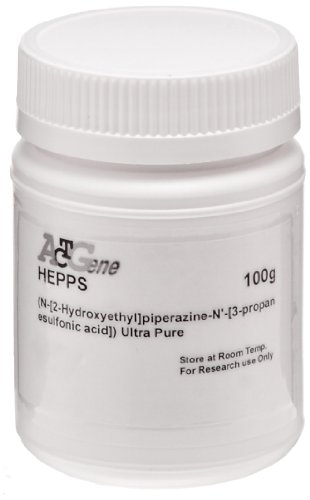 ACTGene HEPPS (N-[2-Hydroxyethyl]piperazine-N'-[3-propanesulfonic acid]) Ultra Pure, 100g