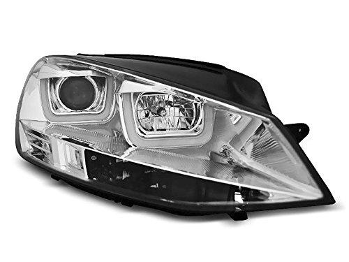 1 paar koplampen Golf 7 12-17 U-type DRL LED chroom (WK5)