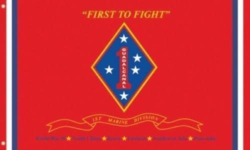 Trade Winds 3'x5' 1st Marine Division Flag USMC Corps Semper Fi Outdoor Indoor Banner 3x5 Fade Resistant Premium