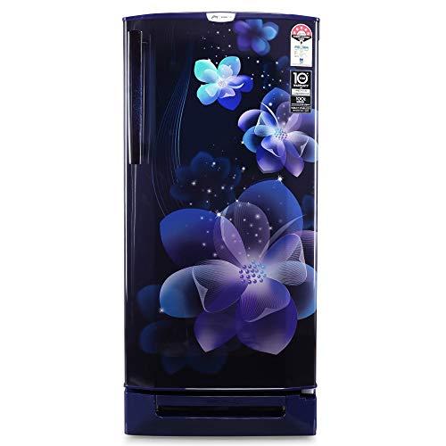 Godrej 190 L 5 Star Inverter Direct-Cool Single Door Refrigerator (RD 1905 PTDI 53 JW BL, Jewel Blue, Base Stand with Drawer)