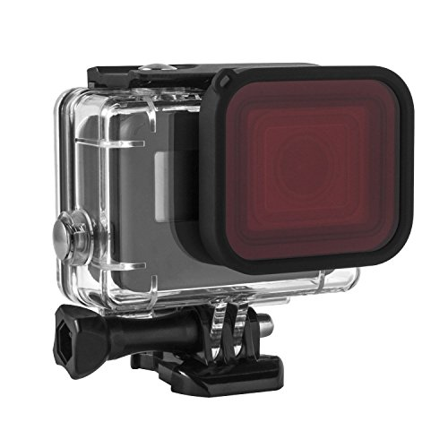 Kupton Red Filter, Underwater Camera Diving Waterproof Red Color Correction Filter for Kupton GoPro Hero 7/6/ 5/ HD (2018) Housing Case