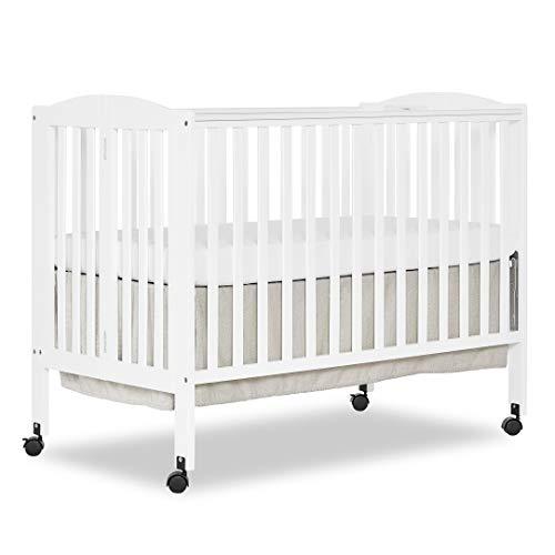 Dream On Me Full Size 2 Position Folding Stationary Side Crib, White