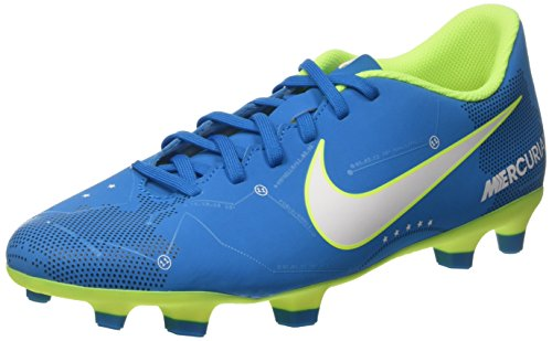 Nike Herren Mercurial Vortex Iii NJR Fg Fußballschuhe, Türkis (Blue Orbit/White/Blue Orbit/Armory Navy/Volt/Volt), 44.5 EU