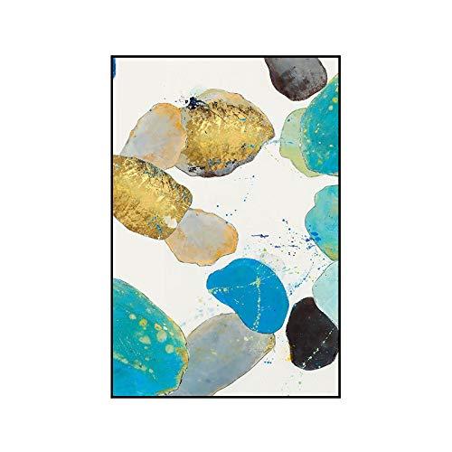 jzxjzx Frameless moderne abstracte woonkamer decoratieve schilderij veranda opknoping schilderij kleur bank achtergrond