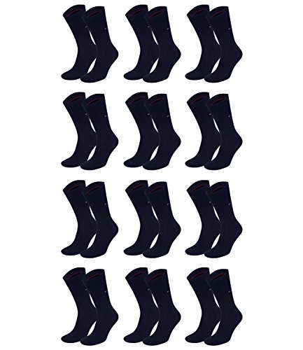 TOMMY HILFIGER Herren Classic Casual Business Socken 12er Pack (Dark Navy, 39-42)