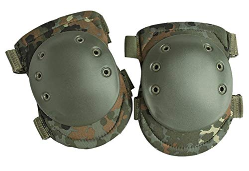 Miltec Tactical Knee Protection Protective Pads Airsoft Paintball Combat Flecktarn