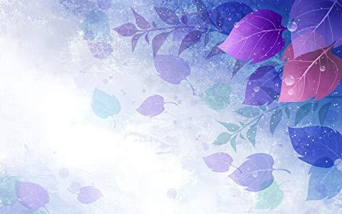 HMTTKPRO Kits De Bordado De Diamantes De Imitación con Pintura De Diamantes 5D Hojas Círculos Púrpuras Vector Bordado De Mosaico De Diamantes Regalo De Taladro Redondo 30x40 CM