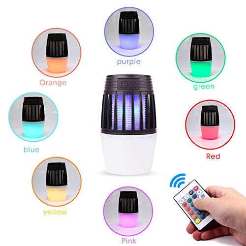[4-in-1] Bug Zapper, Lantern, RDG Light, Attractant - Effective Mosquito Zapper/Killer - Insect Fly Trap, Outdoor/Indoor - Electric Light Bulb Lamp Lantern for Backyard, Patio, Camping