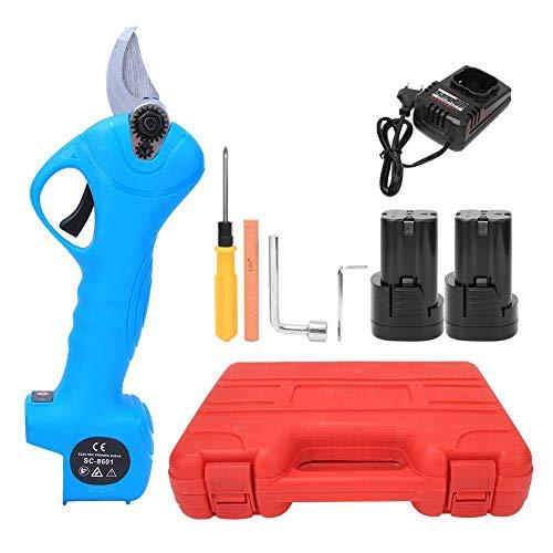 Xinwoer Tijeras de podar eléctricas sin Cable Profesionales Recargables 16.8V 2AH Batería de Litio Powered Tree Branch Pruner 25mm Diámetro de Corte 3-4 Horas de Trabajo(1)