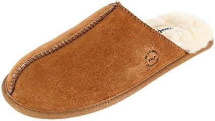 Dearfoams mens Genuine Suede Closed Toe Scuff Slipper Chestnut 11 US product image