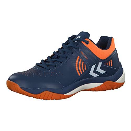 hummel Unisex-Erwachsene DUAL Plate Impact Multisport Indoor Schuhe, Blau (Poseidon 8616), 44.5 EU