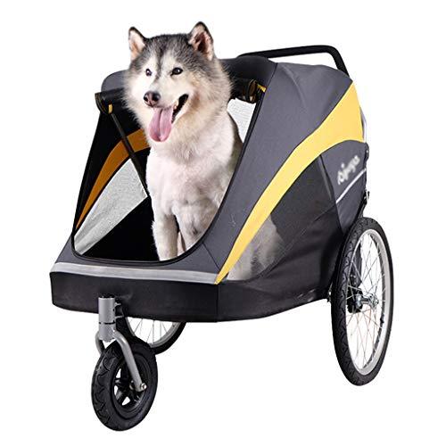 Cochecito Plegable Mascotas El Cochecito El Carro De La Compra El Carro Plegable Grande del Perro Puede Soportar 60kg Fuera De Productos De La Carretilla del Animal Doméstico