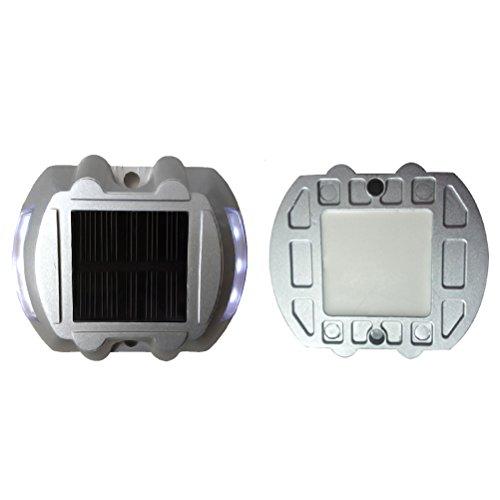Mobestech LED-Laufleuchte Solarleuchte LED-Warnleuchte Notlicht für den Straßenverkehr des LED-Straßenlichts für den Garten des Terrassenfahrers