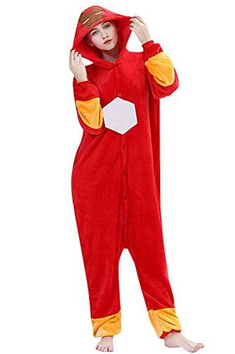 YAOMEI Adulto Unisexo Onesies Kigurumi Pijamas, 2020 Mujer Hombres Traje Disfraz Animal Pyjamas, Ropa de Dormir Halloween Cosplay Navidad Animales de Vestuario (Ironman, M)