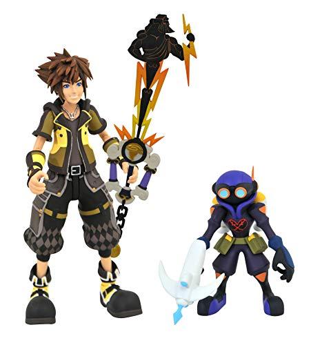 DIAMOND SELECT TOYS Kingdom Hearts 3: Sora y Soldado de Aire Air Soldier Guardian Form Sora Figura de acción 2-Pack