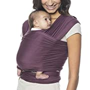 Ergobaby Aura Baby Wrap Carrier, Newborn to 25 lbs (0-36 Months), Wine
