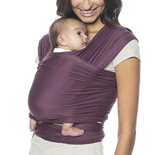 Ergobaby Aura Baby Carrier Wrap for Newborn to Toddler (7-25 Pounds), Wine