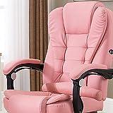 KaminHome - Silla Oficina ZOE sillón despacho eléctrica Masaje reclinable giratoria elevación Asiento Respaldo reposabrazo ergonómica (Rosa)