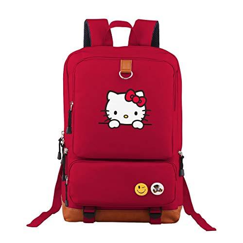 Hello Kitty Oxford Rucksack Schulrucksack Laptoprucksack Für Herren Damen Jungen MädchenDaypacks