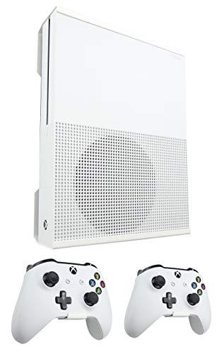 Supporto da parete per Xbox One S e staffa per controller (bianco) – Design Signature X! – Made in the UK!
