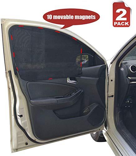 Heart Horse Car Magnetic Side Window Curtain 2PACK - Car Sun Shade, Summer Sun Block Car Curtain,Universal Car Front Sun Visor Protector Mesh Fabric Sun Shade-Anti-UV, (Suitable for Front Window)