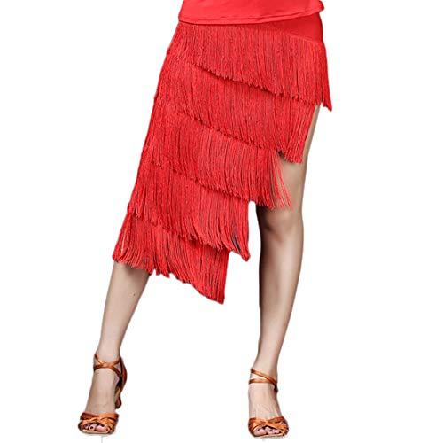 Pokonl Falda De Tul Acogedora Sexy para Mujer Y Nia, Faldas Cortas De Verano para Mujer, Vestido De Baile Chacha De Tango Latino Profesional-XL
