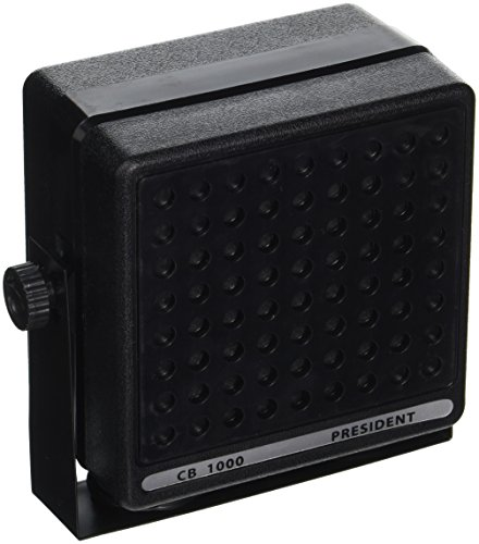 Universal CB External Communications Speaker - 25 Watts Water-Resistant Extension Speaker for Mobile Transceiver w/ Swivel Mounting Bracket, 6 Feet Speaker Cable, For HAM Radio - Pyramid CB1000