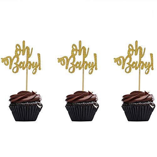 Speed Sell EU 36 Stück Oh Baby Cupcake Toppers für Geburtstag Babyparty Party Dekorationen