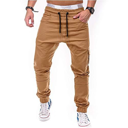 manadlian Hommen Pantalon de Fitness Jogging Pantalons Cargo Sport pour Hommes Pantalon de Survêtement Décontracté Cordon Haleter Garçon Pants Slim Fit Sweatpants Running