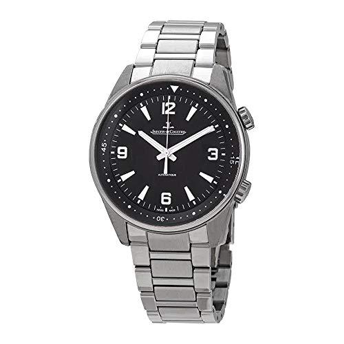 Jaeger LeCoultre Polaris Black Dial Automatic Men's Steel Watch 9008170