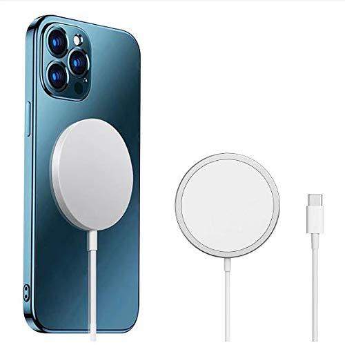 Magnético Inalámbrico Cargador mag-Safe para iPhone 12 Pro MAX Mini Adsorción Magnética del Soporte del Soporte De La Recarga del Coche De Carga Rápida De La Serie 15W