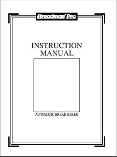 Best breadman bread machine manual tr555lc Reviews